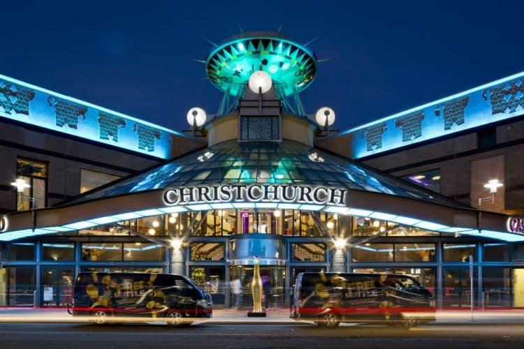 Christchurch casino NZ main entrance.