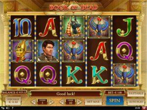 book of dead pokies game screenshot
