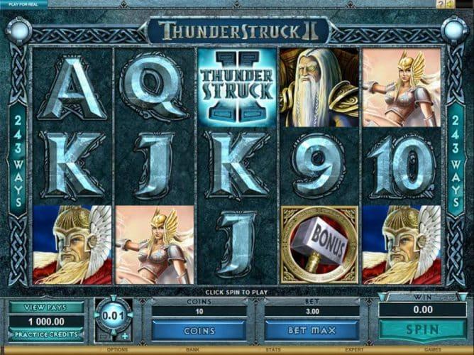 thunder struck pokies game screenshot