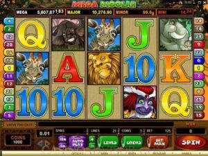 screenshot of the jackpot game mega moolah