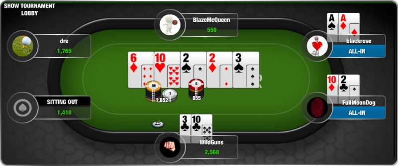 playing online texas hold em poker