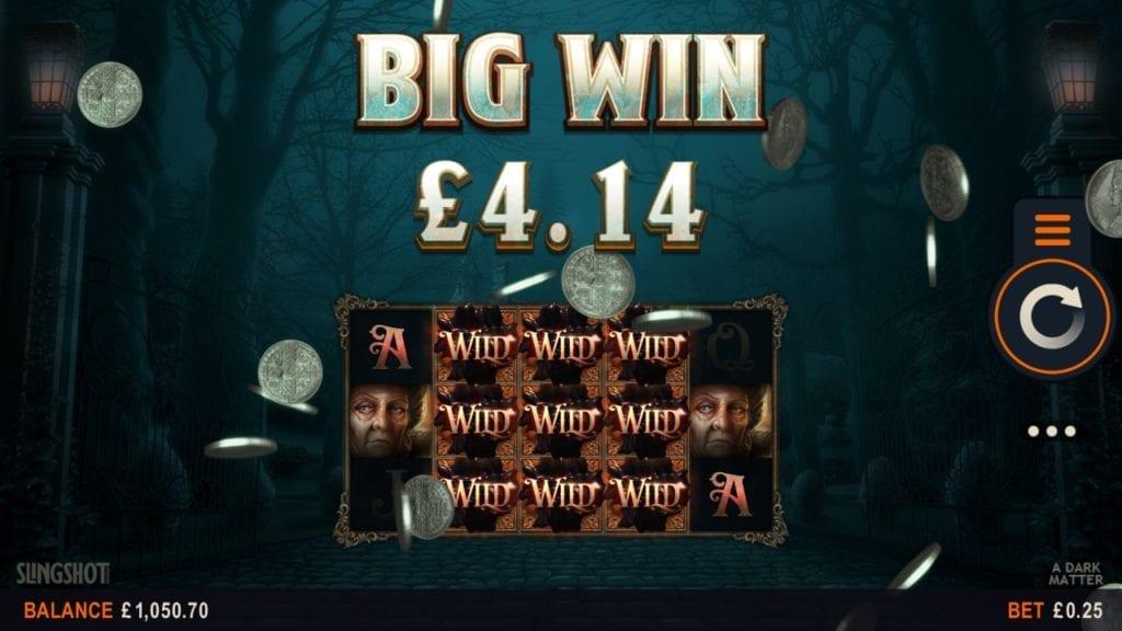 Big Win at A Dark Matter slot game