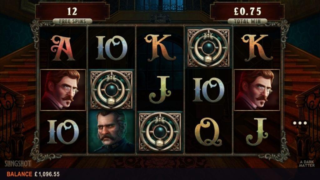 Free spins at A Dark Matter slot game