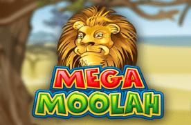 Mega Moolah NZ jackpot logo.