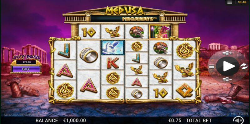 Medus Megaways pokies gameplay screenshot