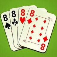 Crazy Eights can be played with regular poker cards