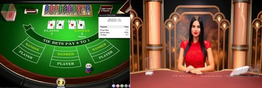 live vs casino baccarat.