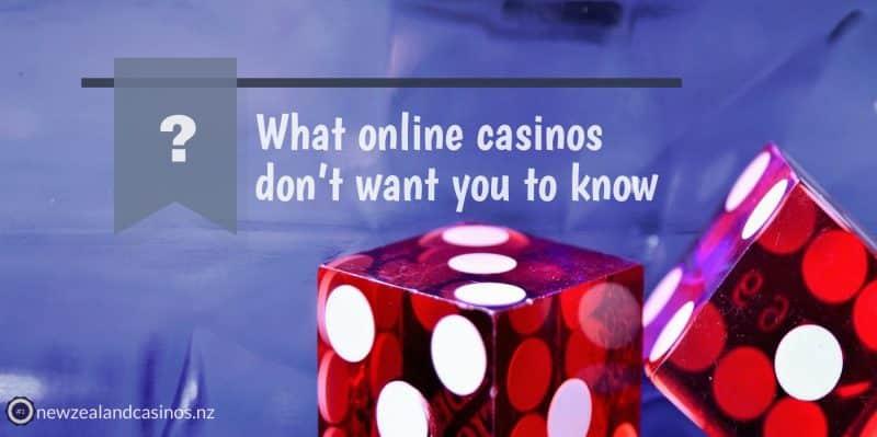 ¡5 cosas que los casinos en línea no quieren que sepas sobre ellas!