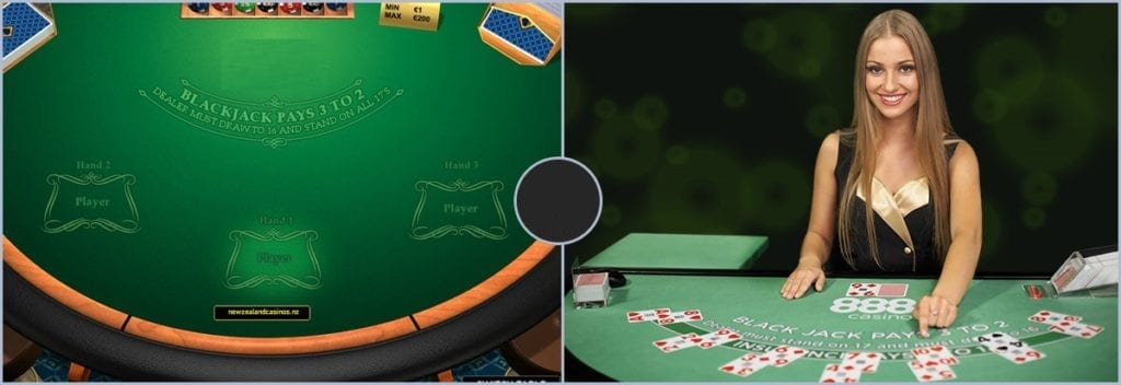 types of online blackjack at casinos