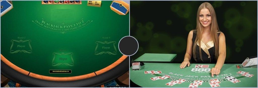 types of online blackjack at casinos