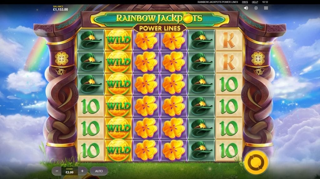 Rainbow Jackpots Power Lines  screenshot of gameplay