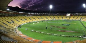 Empty Westpac Stadium in NZ