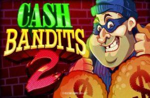 logo of the cash bandit 2 jackpot pokies