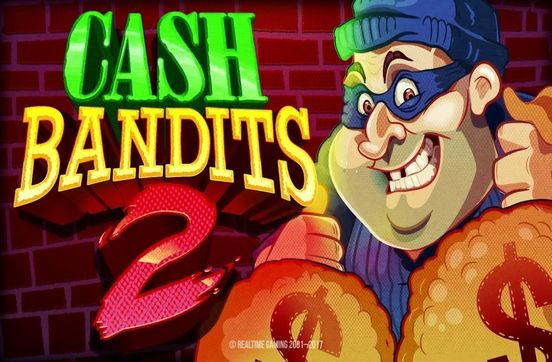 logo of the cash bandit 2 jackpot pokies