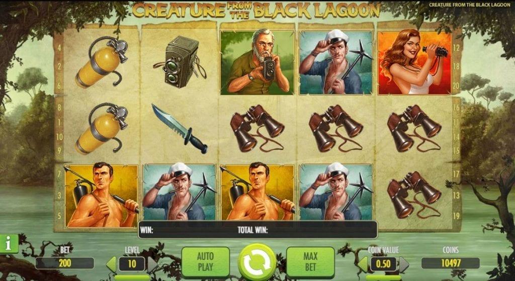 Creature From The Black Lagoon slot game screenshot.