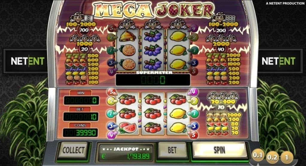Screenshot of the Mega Joker video slot game
