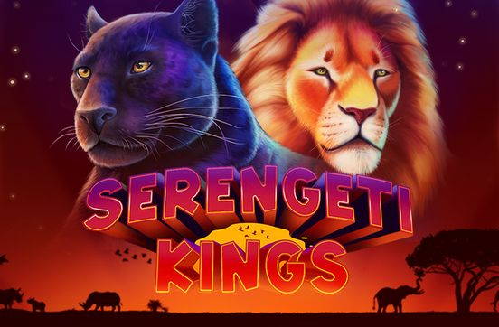serengeti kings pokie slot game poster