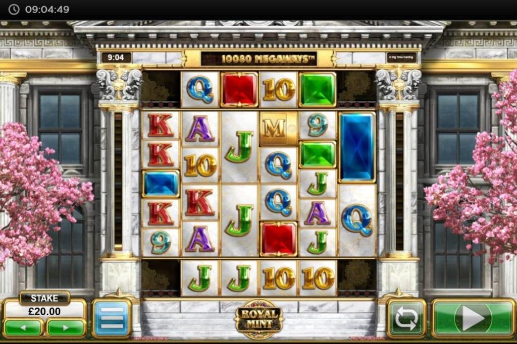 Royal Mint Megaways screenshot of the slot/ pokies gameplay