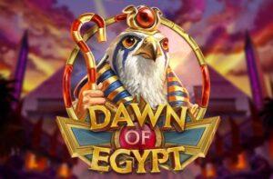 logo of the Play' N Go pokies game Dawn of Egypt