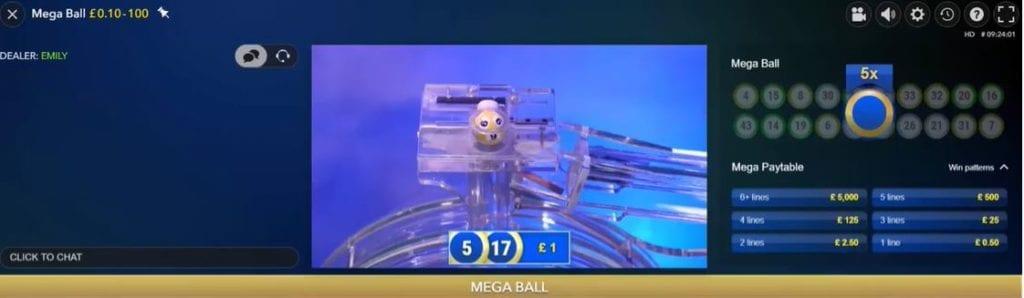 mega ball win screenshot