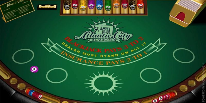 Screenshot of the Atlantic City Blackjack.