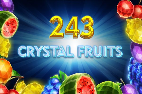 Logo of the Crystal Fruits slot game.