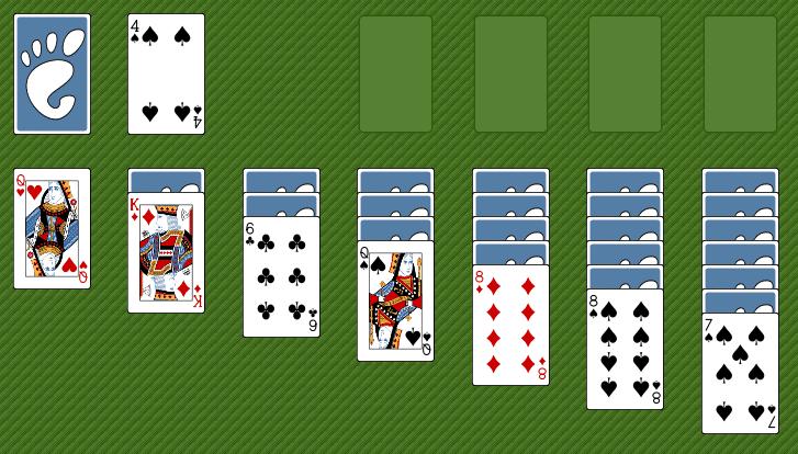 Klondike game screenshot.
