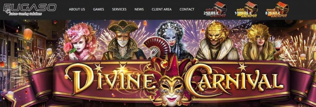 Fugaso homepage screenshot.