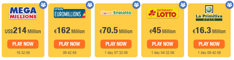 Different types of online lotto.