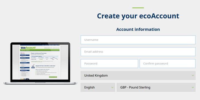 How to create ecoAccount.