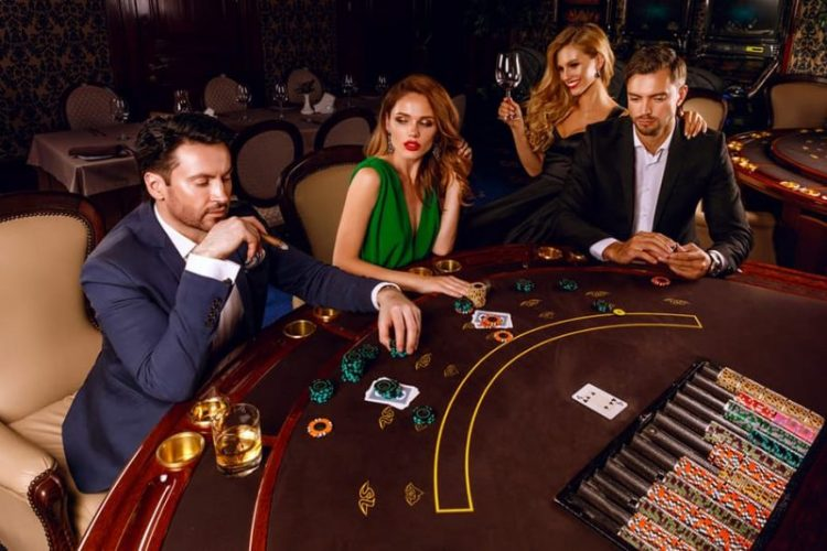 VIP players in the casino.