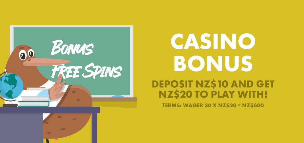 Kiwi explain casino bonuses