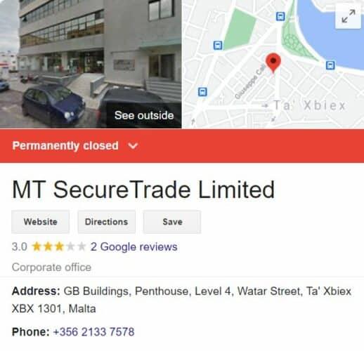 Owner of dunder casino is MT secureTrade Limited.