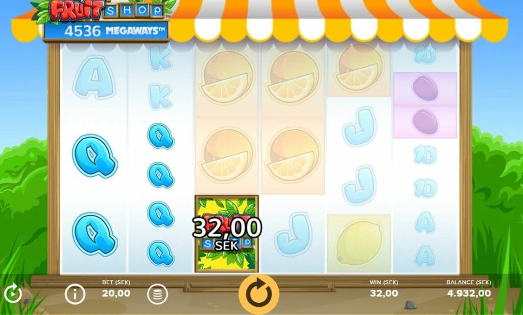 Fruit Shop megaways screenshot.