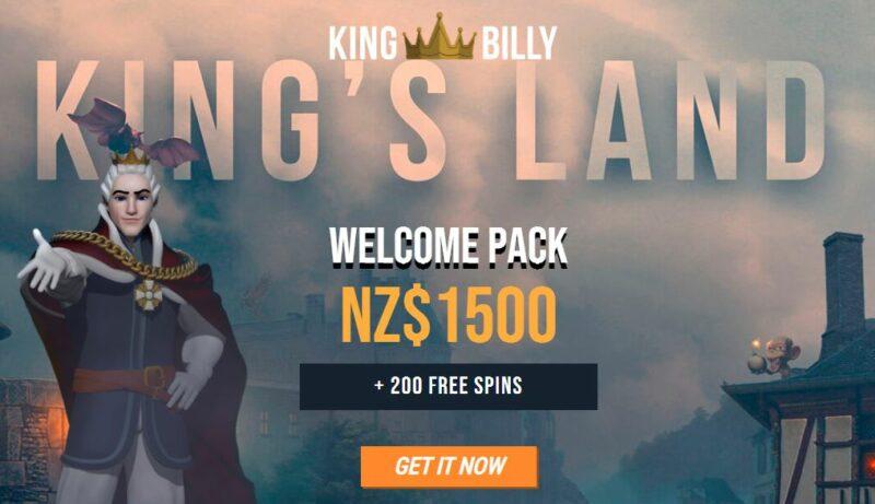 Paket selamat datang kasino King Billy.