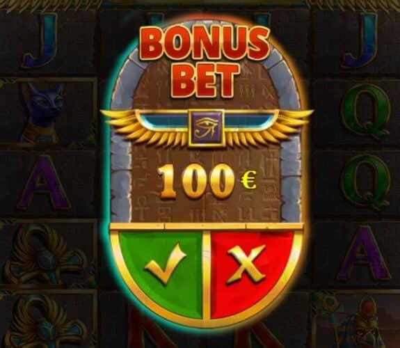 Bonus bet feature at Mummy Win Hunters Epicways.