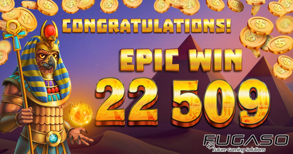 Proof of the epic win at the Mummy Win Hunters Epicways slot game.