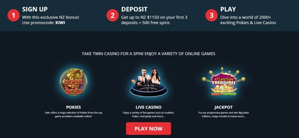 How to claim exclusive offer at Twin casino.