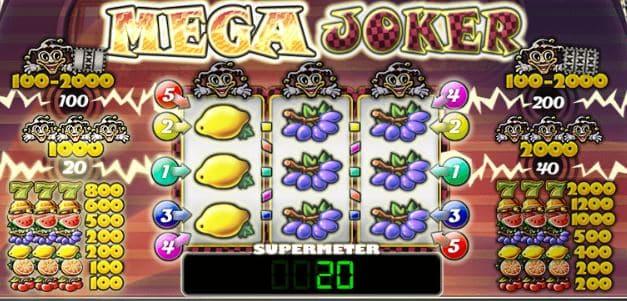 Supermeter mode at Mega Joker slot game.