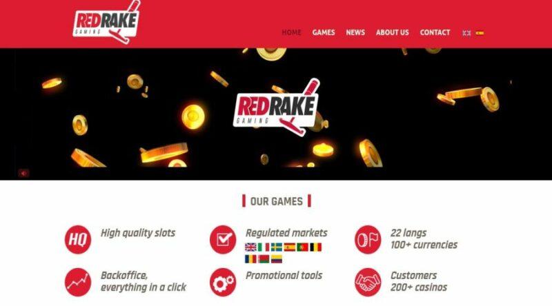Screenshot of the Red Rake Gaming official website.