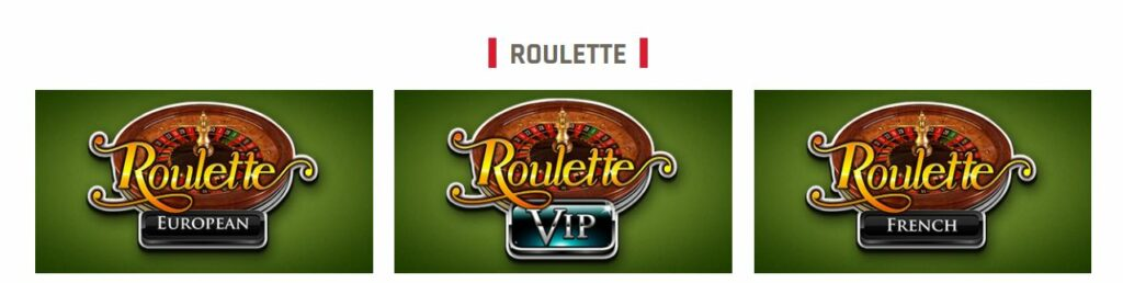 Top 3 roulette games from RRG.