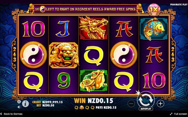5 Lions slot game screenshot