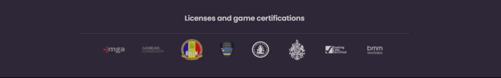 Pragmatic Play licenses