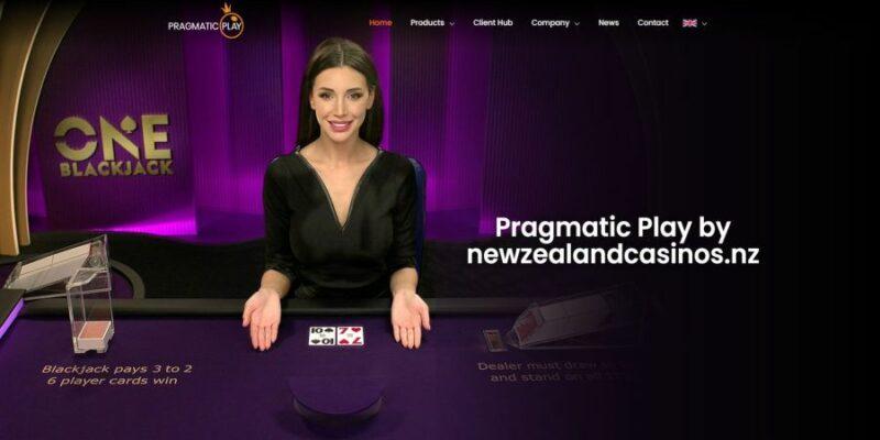 The screenshot image of the Pragmatic Play homepage.