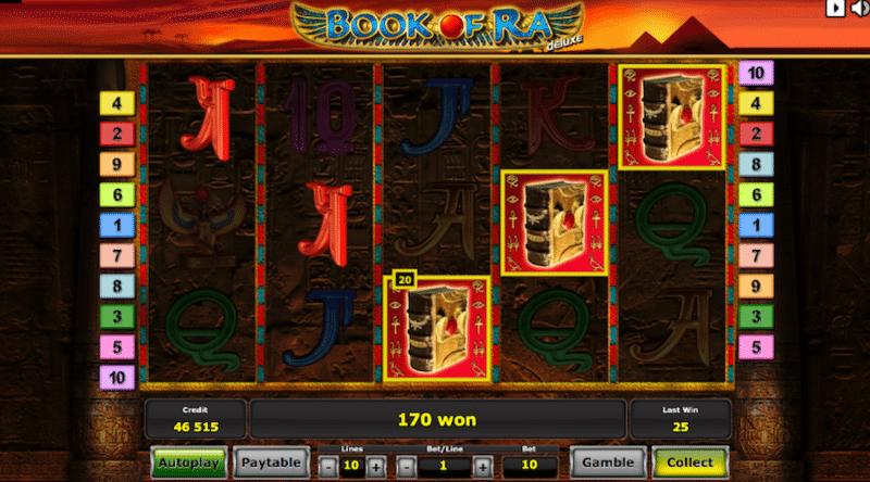 Simbol sebar di slot Book of Ra.