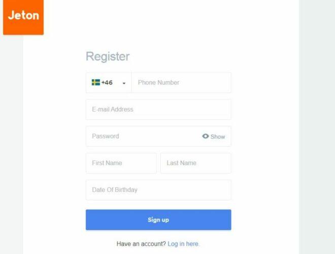 Jeton register