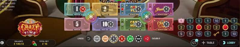 betting layout