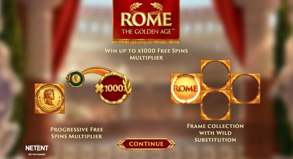 Rome the Golden Age features