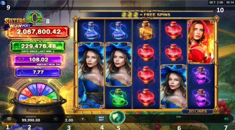 Screenshot of the main game display.