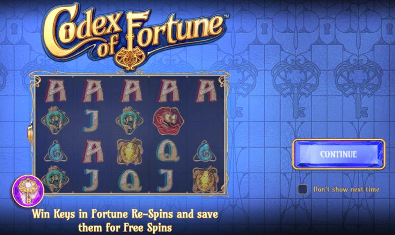 Codex of Fortune before start